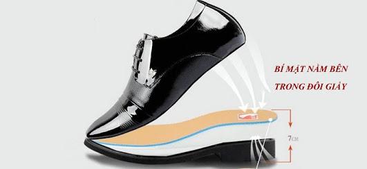 Giày tăng chiều cao nam da bò thật TC05 -5