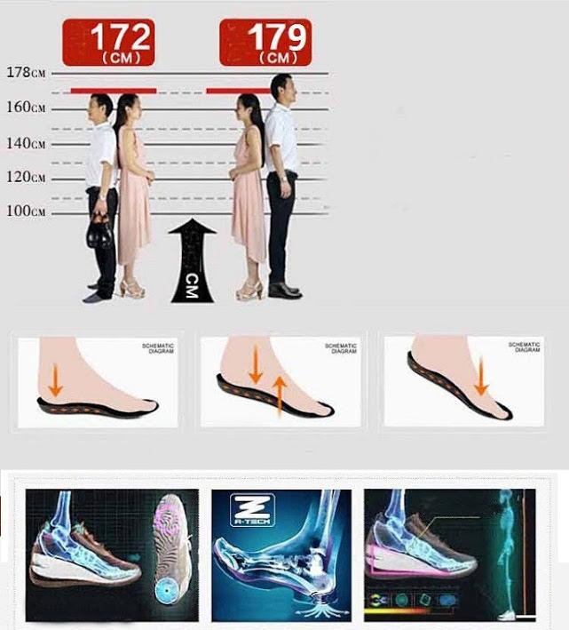 Giày tăng chiều cao da bò thật TC09 -7