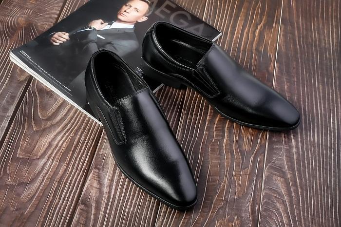 Giày tây da bò thật đế phíp cao cấp GD06