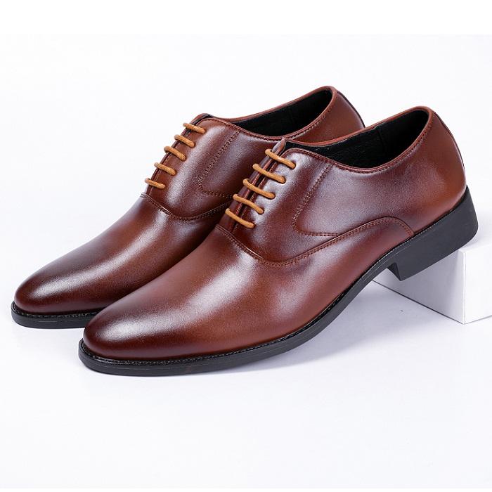Giày buộc dây da bò