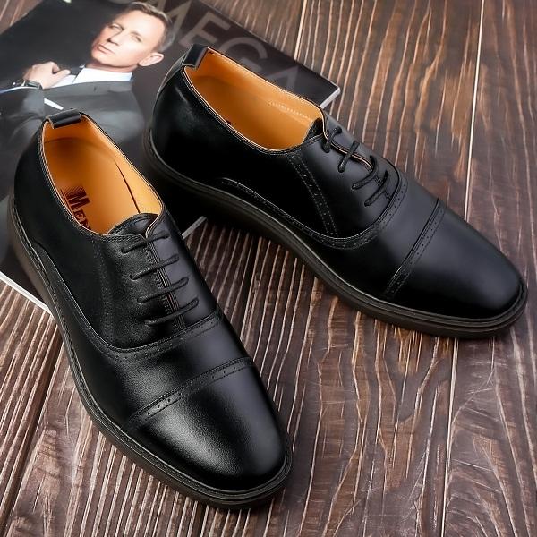 Giày Tăng Chiều Cao Nam Da Bò Thật TC04